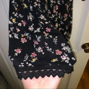 Abercrombie & Fitch Other - a&f off shoulder floral romper with lace detailing